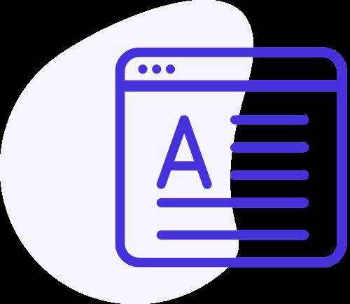 專業網頁的UI/UX 使用設計圖標